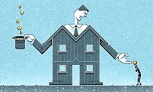 Matt Kenyon illustration on private landlords
